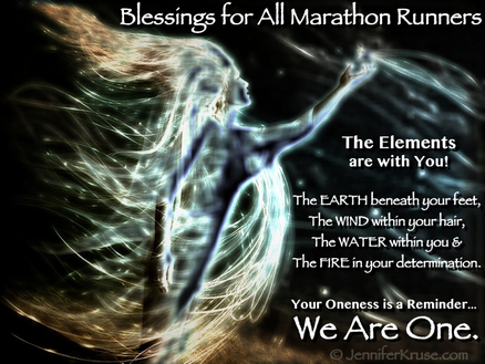 Marathon Runners: One with the Elements: Blessings for Fargo Marathon Runners by: Jennifer Kruse, LMT CRMT - Inspirational Holistic Healer, Speaker & Writer - Fargo, ND - JenniferKruse.com