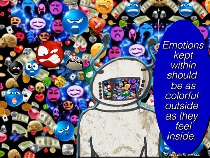 NEW WORLD: Painted by Emotions - Quote: