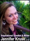 Inspirational Speaker & Writer, Jennifer Kruse, LMT CRMT.  aka the