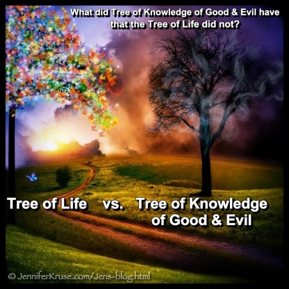Tree of Knowledge vs Tree of Life. Questions & Insights for