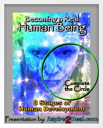 Become a Real Person: 8-Stages to Human Being. Human Doing vs. Human Being. by: Jennifer Kruse, LMT CRMT - Holistic Healing Expert - Fargo, ND - Moorhead, MN - JenniferKruse.com Presentation Based on Anishinaabe Midewin Medicine Teachings - offered by: Aspire2Heal.com