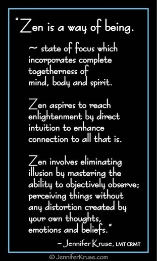 Zen defined. Many Accidentally Reject Enlightenment: Make sure you don't drop the