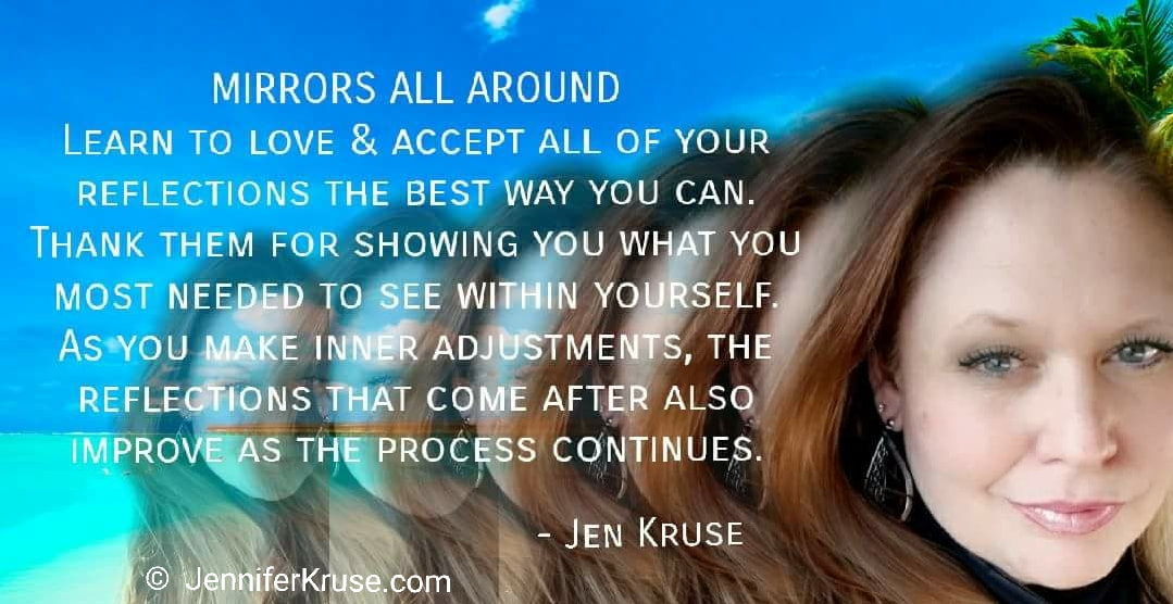 Quote: Mirrors All Around - by: Jen Kruse at JenniferKruse.com
